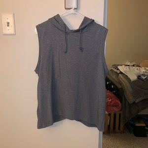 Sleeveless workout sweatshirt